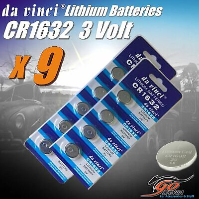 AU6.30 • Buy 9 X CR1632 Lithium 3 Volt Coin Battery Local Stock 3v Same As DL1632 & ECR1632 D