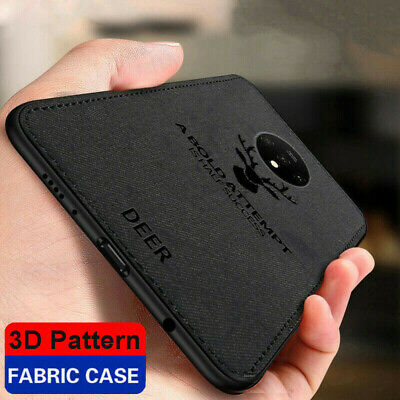 AU4.61 • Buy  For OnePlus 8 7T Pro 6T Luxury Slim Fabric Texture Soft TPU Leather Case Cover