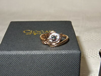 NEW Welsh Clogau 18ct Rose Gold Peacock Throne Diamond Ring Size O RRP £800 • 570£