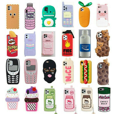 3D Cartoon Silicone Kids Case For IPhone XS Max XR XS 8 7 6 6S Plus 5S Touch 7 6 • 3.99£