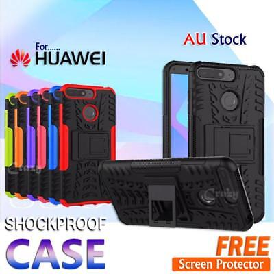 AU8.49 • Buy For Huawei Y5 Y6 2018 Y7 Pro 2019 Shockproof Heavy Duty Stand Rugged Case Cover