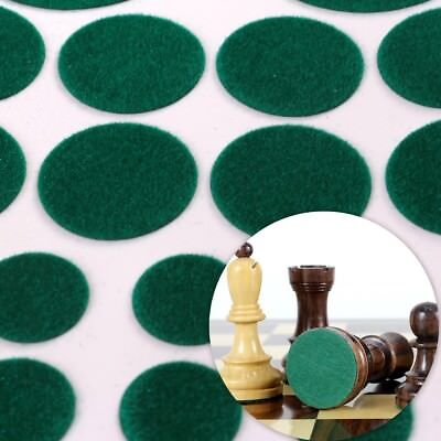 BAIZE GREEN FELT PADS 40Pc Glass Mirror Ceramic Ornament Chess Anti Scratch Feet • 3.19£