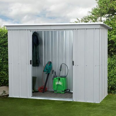 6x4 METAL GARDEN SHEDS YARDMASTER SHED 6ft X 4ft PENT GALVANISED STEEL STORAGE • 199.94£
