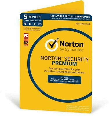 AU29.99 • Buy NEW Norton Internet Security DELUXE PREMIUM 2020 1 - 5 Devices Windows Mac