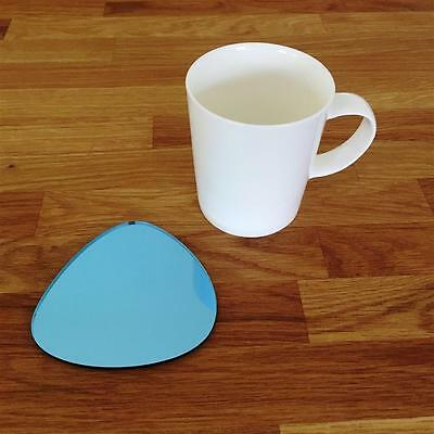 Pebble Shaped Blue Mirror Finish Acrylic Coasters, Sets Of 4, 6 Or 8, 10cm 4  • 18.29£