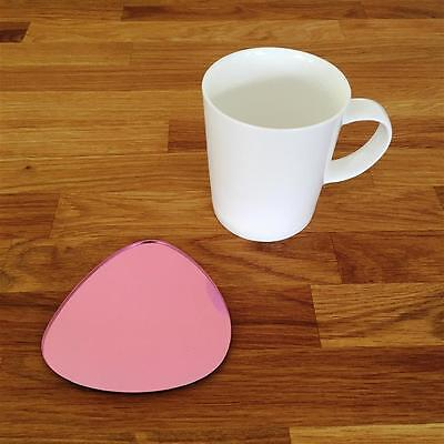 Pebble Shaped Pink Mirror Finish Acrylic Coasters, Sets Of 4, 6 Or 8, 10cm 4  • 18.29£