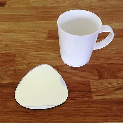 Pebble Shaped Silver Mirror Finish Acrylic Coasters, Sets Of 4, 6 Or 8, 10cm 4  • 18.99£