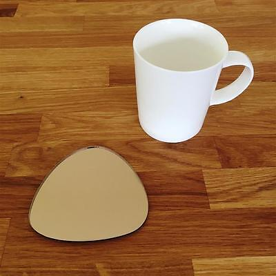 Pebble Shaped Bronze Mirror Finish Acrylic Coasters, Sets Of 4, 6 Or 8, 10cm 4  • 18.29£