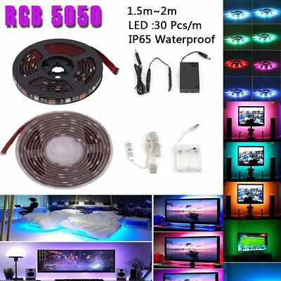 $5.96 • Buy NEW 5050 Waterproof RGB Multicolor Battery Powered Led Flexible Strip Light B2