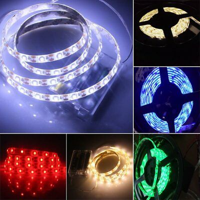 $5.89 • Buy 5050 Waterproof RGB Multicolor Battery Powered Led Flexible Strip Light B2