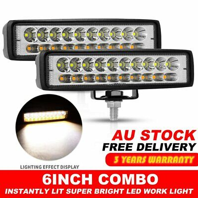 AU21.99 • Buy 2x 6inch LED Work Driving Light Bar Cree Combo Lamp Reverse Offroad 4x4