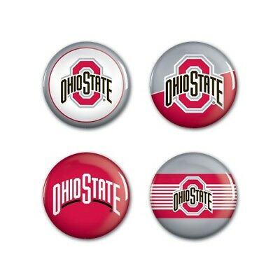 5f6b5c4d2dd Ohio State Buckeyes Wincraft NCAA Button Pins 4 Pack 1-1/4 Round FREE