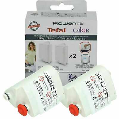 View Details 2 Tefal FASTEO LIBERTY ROWENTA STEAM IRON Anti Scale Filter Cartridges XD9060E0  • 19.99£