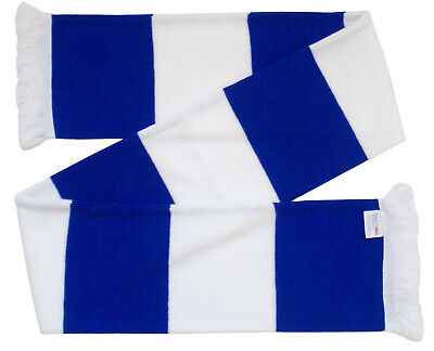 £6.99 • Buy Chelsea Supporters Royal Blue And White Retro Bar Scarf - Made In The UK