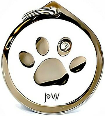 £6.49 • Buy Beautiful Paw Design Pet Dog & Cat ID Collar Name Tag Disc. Engraving Available