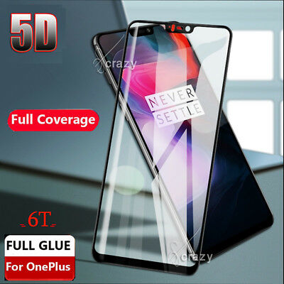 AU5.95 • Buy 5D Full Coverage Tempered Glass LCD Screen Protector Film Guard For OnePlus 6T