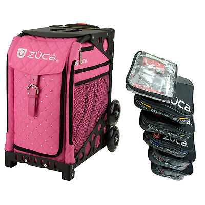 £186.22 • Buy Zuca HOT PINK Sport Insert Bag With Black Frame And Packing Pouch Set