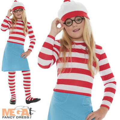 £21.49 • Buy Wheres Wally Wenda Girls Fancy Dress Book Day Week Childs Kid Costume Outfit New