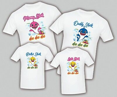 04929713 Baby Shark Birthday Matching T-shirts Party Family Kid Reunion Mom, Dad,  Sister