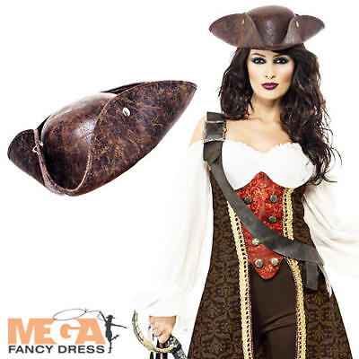 Pirate Wench + Hat Ladies Fancy Dress Adults Womens Halloween Costume Outfit New • 36.99£