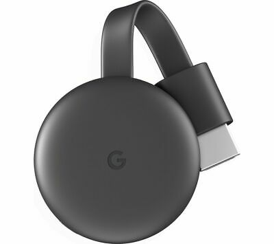 View Details GOOGLE Chromecast - Third Generation, Charcoal - Currys • 30.00£
