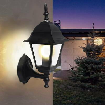 2x 4 Sided Black LED Wall Lantern Outside Lamp Vintage Outdoor Garden Light UK • 14.99£