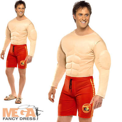 £26.99 • Buy Baywatch Lifeguard Mens Fancy Dress Swimming Uniform TV Show Costume Outfit New