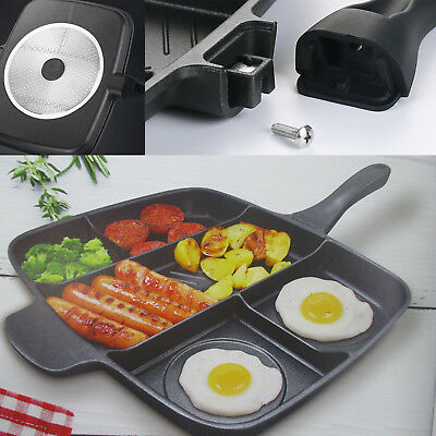£123.99 • Buy 5 In 1 Multi Section Fryer Frying Pan Non Stick Grill Oven BBQ Induction Plate