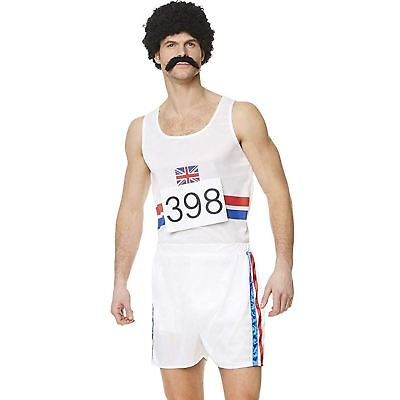Mens Decathlon Champ Costume 80s Athlete Olympian Sports Fancy Dress Outfit • 14.99£