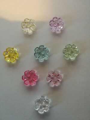 £2.25 • Buy Transparent Buttons See Through Clear Flower Shaped Two Hole 13mm Shape