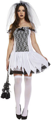 Halloween Ladies Zombie Bloody Bride Adult Fancy Dress Costume Women Outfits • 10.99£