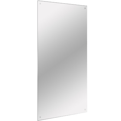£17.99 • Buy Frameless Rectangle Mirror Includes Wall Hanging Fixings M&W