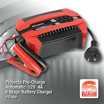 AU109 • Buy PROJECTA  BATTERY CHARGER PRO CHARGE 4 Amp  12 VOLT  PC 400  6 STAGE AUTOMATIC