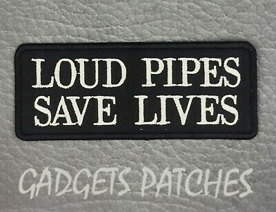 AU6.95 • Buy Loud Pipes Saves Lives HARLEY DAVIDSON BIKER Vest  Patches Iron Sew On