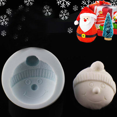 Silicone Snowman Head Cake Chocolate Baking Mould Fondant Decorating Icing Mold • 3.25£