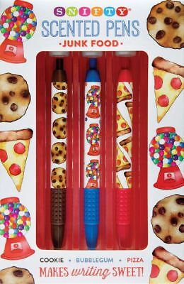 Scented Pen Set - Junk Food - Great Xmas Gift -  Cookie, Pizza, Bubblegum • 9.99£