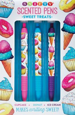 Scented Pen Set - Sweet Treats - Great Xmas Gift -  Cupcake, Donut, Ice Cream • 9.99£