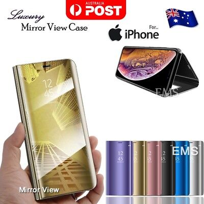 AU9.49 • Buy Mirror Clear Flip Case Cover For Apple IPhone SE 2020 11 Pro XS Max XR 7 8 Plus