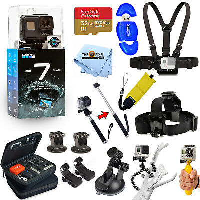 $ CDN374.88 • Buy GoPro HERO7 HERO 7 Black All In 1 PRO ACCESSORY KIT W/ 32GB SanDisk + MUCH MORE