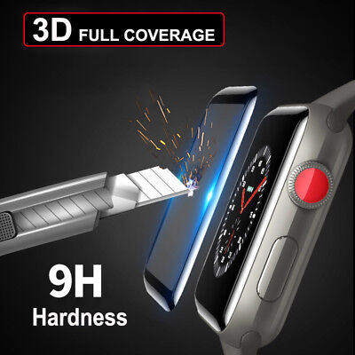 AU4.65 • Buy 3D Tempered Glass Full COVER Screen Protector 4 IWatch Apple Watch 38/42/40/44mm
