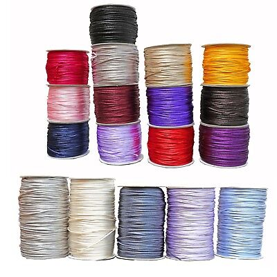 Rat-Tail 2mm Satin Rats Tail Cord Rope Trim Gift Wrap Braiding 20 Colours  • 0.99£