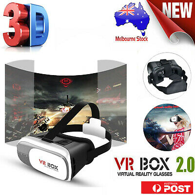 AU17.82 • Buy VR Headset 3D VR BOX Virtual Reality Glasses For Samsung Galaxy IPhone Huawei LG