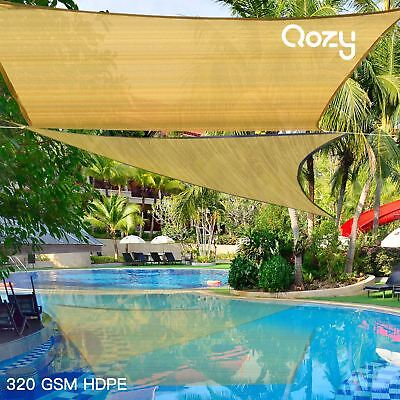 AU75 • Buy Qozy SUPER Extra Heavy Duty Sun Shade Sail 320gsm Square Rectangle Triangle Sand