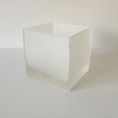 £4.25 • Buy Jamali Garden Frosted Glass Cube Vase - 4.75 In. Sq. Decorative Container