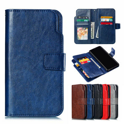AU6.41 • Buy For Samsung Galaxy J8 A6 A8 2018 Magnetic Flip Case Leather Wallet Stand Cover
