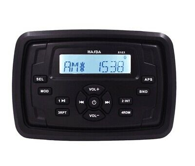 $85.44 • Buy Marine Stereo Boat Square Radio Yauht Bluetooth Audio Sound System For ATV UTV