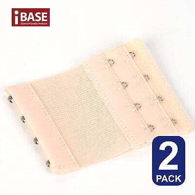 AU5.49 • Buy 2x BRA Extender Elastic 4 Hook Extension Strap Plus Size Clip On Maternity Nude