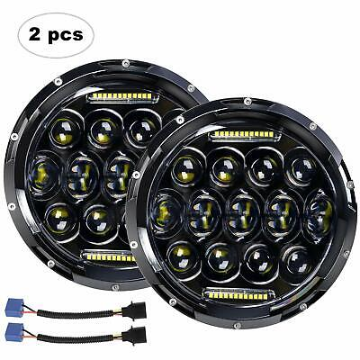 AU79.99 • Buy 2X 7  Inch LED Headlight Hi/Lo Beam Round FIT For 65-85 Land Cruiser FJ40