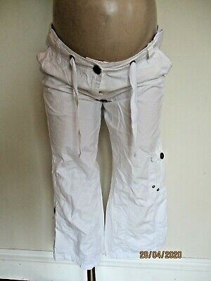 £6 • Buy E-vie Maternity White Under Bump Crop Cargo 3/4 Trousers Shorts Size 10