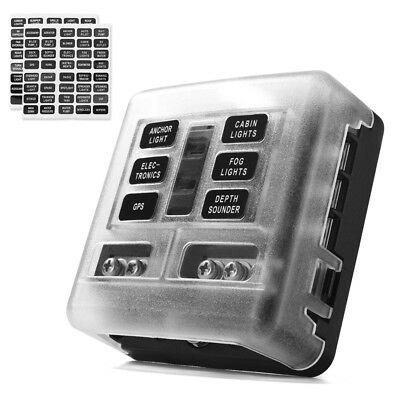 AU29.99 • Buy 6-Way Blade Fuse Block Box Holder Overload Protection For Car Boat Marine Auto
